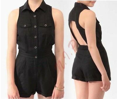 3f7f98887e06 Forever21 Cutout Open Back Utility Club Street Wear Party Sexy Jumpsuit  Romper