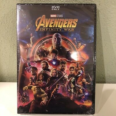 Avengers: Infinity War (DVD,2018) Brand New Fast Shipping
