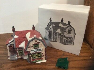 Misprint Department 56 Dicken's Village Booter And Cobbler 1988 Error Box