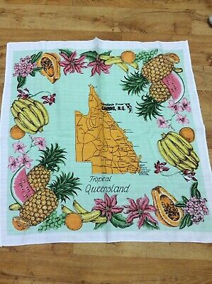 Vintage Tropical Queensland Supper Tablecloth