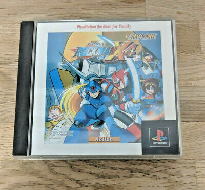 ROCKMAN X4 / Megaman X4 PSX PS1 Playstation - Tested & Working - Import  Japan