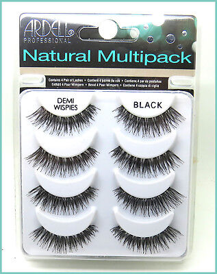 Demi Wispies, Black, Ardell Natural Multi Pack, False Eyelashes, Aussie Seller
