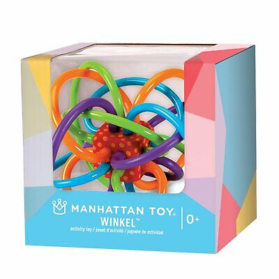 New Manhattan Toys Winkel Baby Rattle Teether Teething Toy 0m+ BPA Free