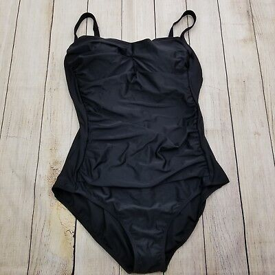 c416a804a379a plus size woman within swimsuits for all runched 1PC swimsuit 24 black NWT