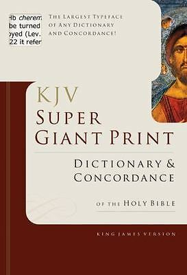 KJV Super Giant Print Dictionary & Concordance - Holman Reference