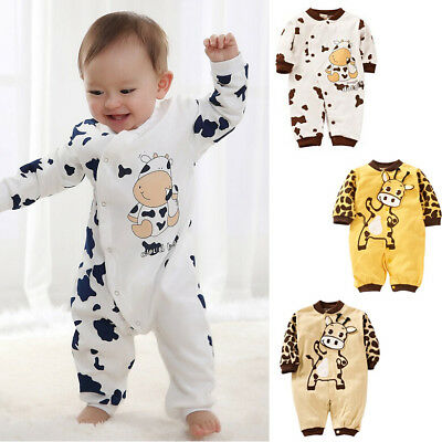 UK Stock Newborn Baby Girl Boy Clothes Romper Bodysuit Jumpsuit Outfit One-piece