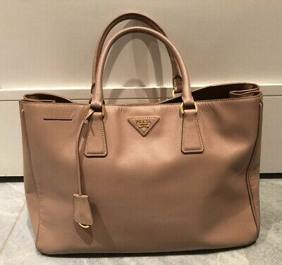 772537341141 Prada-Large Saffiano Leather Lux Tote Bag-Blush-Excellent Used Condition!