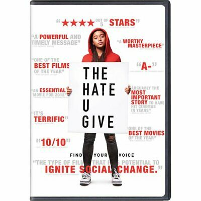 The Hate U Give (DVD) REGION 1 DVD (USA) Brand New and Sealed