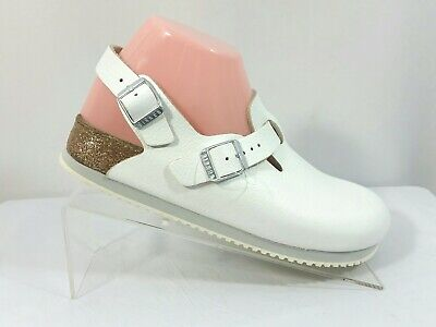 f9139a27401a Birkenstock Boston Super Grip White Leather Clogs Comfort Shoes Womens Size  8