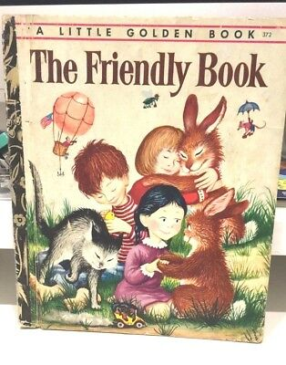 LGB Little Golden Book HC FREE POST THE FRIENDLY BOOK 1974  #372 Margaret Brown