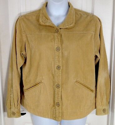 1e0bd48965336 Columbia Corduroy Jacket Womens Tan Button Up Sport Dress Casual Pockets  Size XL