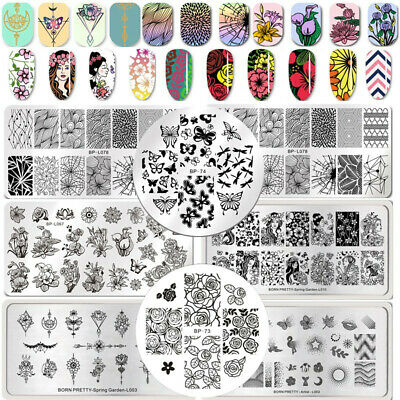 BPRN PRETTY Nail Art Image Stamping Plates Spring Flower Leaf Printing Templates