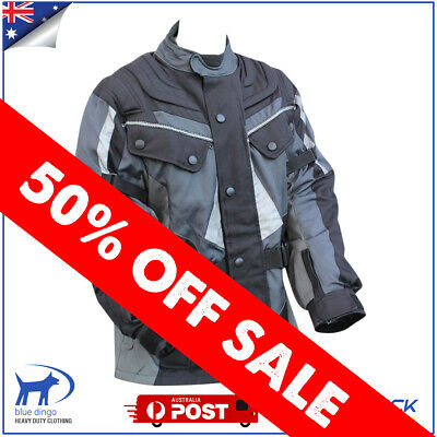 Mens Motorcycle Jacket Winter Textile Waterproof Windproof Scooter ATV Motorbike