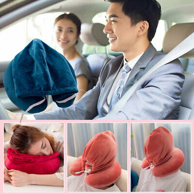6ED4 Security Hat Watching TV Headrest Airplane Travel Hoodie Pillow Studying