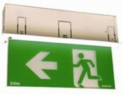 Menvier GLOLINE EMERGENCY LED EXIT SIGN 3W 3-Core Flex & Plug, Body Only