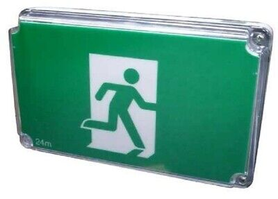 Menvier RUNNING MAN EMERGENCY EXIT SIGN LED LIGHT 233x350x140mm 3W Maintained