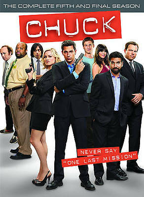 Chuck: The Complete Fifth Season (DVD, 2012, 3-Disc Set) Brand New *Free Ship*