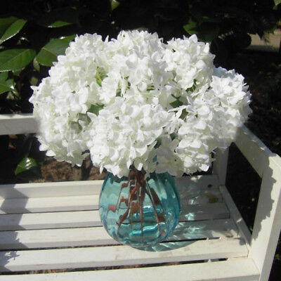 Artificial Silk Flowers Bridal Hydrangeas Centerpiece Wedding Office Decor AU