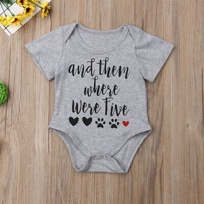 US STOCK Newborn Infant Baby Outfits Boy Girl Bodysuit Romper Jumpsuit Clothes