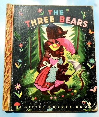Vintage - Little Golden Book - THE THREE BEARS Sydney Edition #28 - Circa 1950