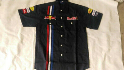 2019 Cotton Redbull Embroidery EXCLUSIVE F1 team racing Short-shirt