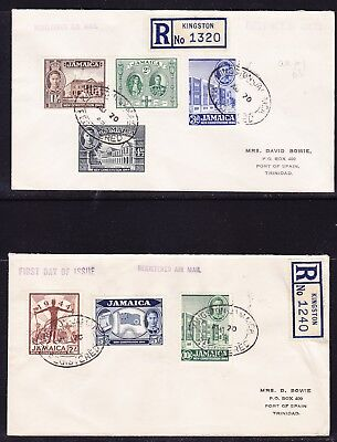 Jamaica 1944 New Constitution REGISTERED  (2) First Day Cover