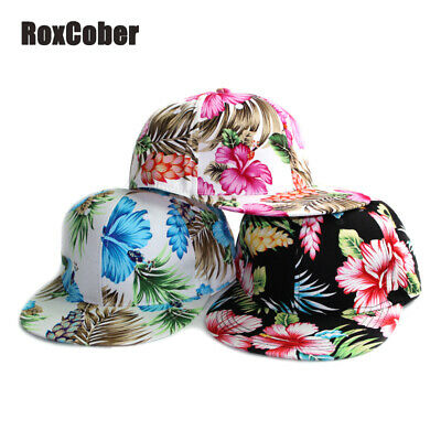 wholesale dealer 93ab6 139ff Mens Womens Snapback Hat Flower Baseball Caps Adjustable Beach Hip Hop Hats