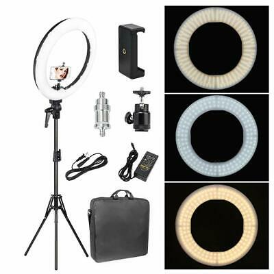 14'' Studio LED Photo Video Ring Light Dimmable+Camera Phone Holder+2M Stand