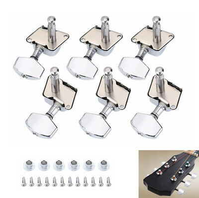 6x Stable Acoustic Guitar String Semiclosed Tuning Pegs Tuners Machine Heads Set