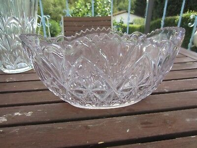 vintage old antique Val-Saint-Lambert Luxval fruitsschaal coupe fruit bowl 30'