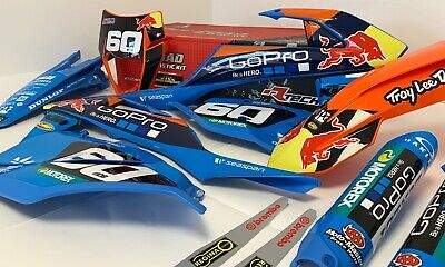Enduro Go Pro Graphics Plastics Kit EXCF 450 2017 2018 2019 Fits: KTM ALL YEARS