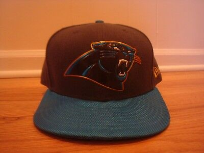 36164f1fe Carolina Panthers hat cap New Era 7 5/8 Fitted Logo Gold Outline sideline  NFL