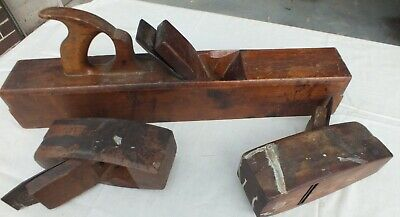 Timber Plane Large Heavy 56cm long Vintage plus 2 others in one lot