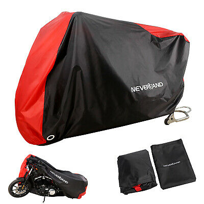 Motorcycle Rain Cover For Harley Softail Fat FLSTF Deluxe FLSTN ZM3BS Universal