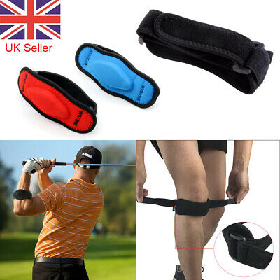 Adjustable Tennis Elbow Patella Knee Support Runners Arthritis Pain Band Brace