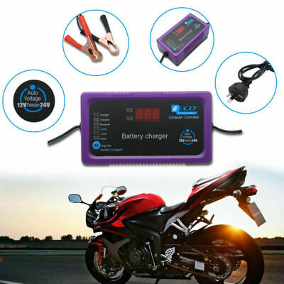 Smart Trickle Battery Charger 12V/24V 2A/6A Automatic Maintainer Car Deep Bike