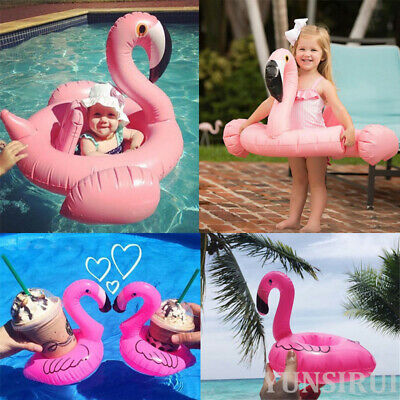 Hot Baby Kids Flamingo Inflatable Float Seat Water Toy Pool Swimming Ring Holder