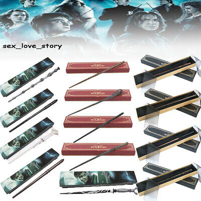 Movie Harry Potter Metal Dumbledore Voldemort  Malfoy Cosplay Magic Wand Gift UK