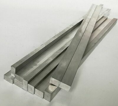 Thickness 2mm - 5mm 6061 Aluminum Square Rod L:100-600mm-Select [159A]