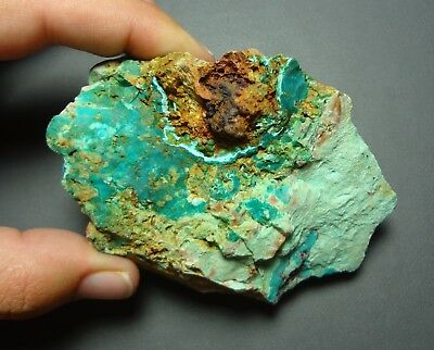 96.9 Gram Australian Chrysocolla Rough Natural Piece Lapidary, Specimen, Mineral