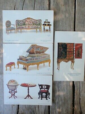 4 Queen Victoria's, Doll House Furniture, TUCK'S Postcards'
