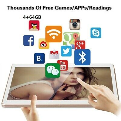 10.1 in 4GB+64GB Android Tablet PC Ten-Core WIFI Phablet 13.0MP Camera UK Stock
