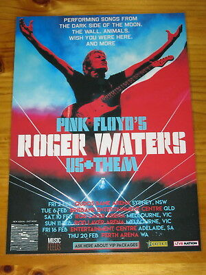 ROGER WATERS - 2018 Australia Tour - PINK FLOYD - Laminated Poster - OFFICIAL