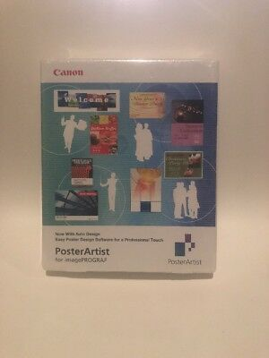 New Canon PosterArtist for imagePROGRAF Software Factory Sealed