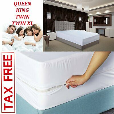 Mattress Zippered Encasement Bug Proof Waterproof Cover Utopia Bedding FULL SIZE