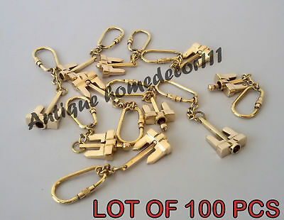 Reproduction Vintage Solid Brass Marine Anchor Key Chain Lot Of 100 Pcs Gift