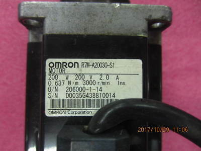 1Pc Used Omron servo motor R7M-A20030-S1 Tested It In Good Condition