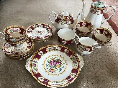 "Royal Albert ""Lady Hamilton"" Six-piece Tea Set"