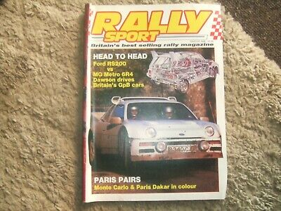 Rally Sport Rallysport March 1986 Metro 6R4 & Ford RS200 Test Monte Carlo Report