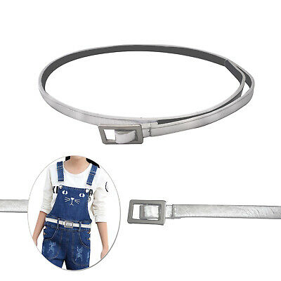 10mm Wide Girls Shiny Silver Waist Belt Luxury Stylish Girls Fashion Accessory